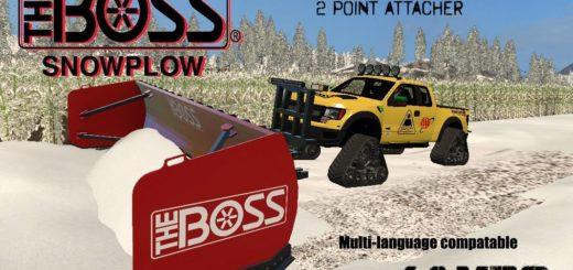 Мод Boss Box Plow v1.0 Farming Simulator 2017