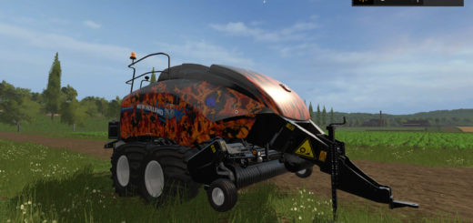 Мод тюкопресс New Holland BigBaler 1290 v 1.0 Farming Simulator 2017