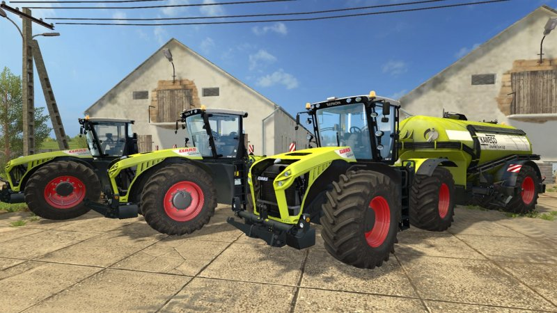 Мод трактора Claas Xerion 4000/4500/5000 Pack v1.0 Farming Simulator 17