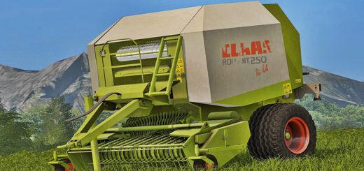 Мод тюкопресс Claas Rollant 250 RotoCut v 1.0 Farming Simulator 2017
