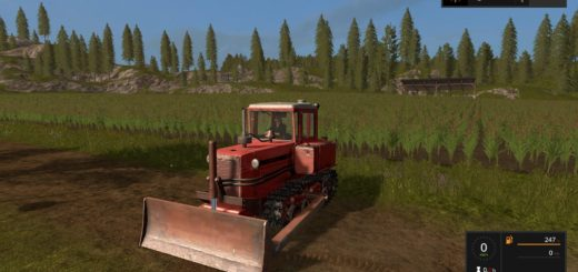 Мод трактор ДТ 75М и отвал v1.1 Фарминг Симулятор 2017