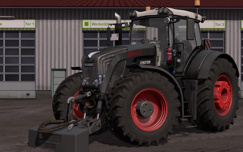 Мод трактор Fendt 900 Vario Black Beauty v 1.1.1.1 Farming Simulator 17