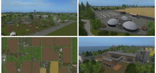 Мод карта Frisian march v1.8 Industrie Farming Simulator 17