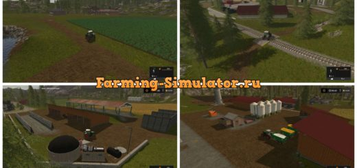 Мод карта Goldcrest valley plus plus RUS V 2.4 Farming Simulator 2017