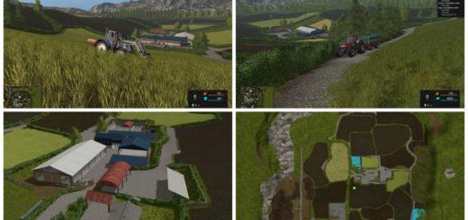 Мод карта Higher Hills 2017 V 1.0 Farming Simulator 17