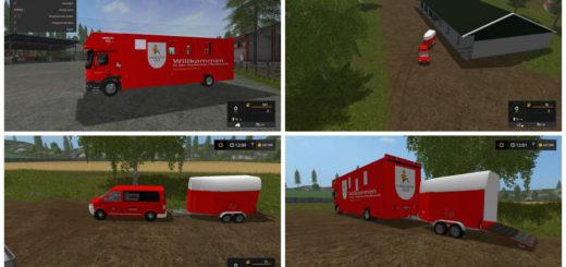 Мод Actros Horse Truck & Horse Box Farming Simulator 17