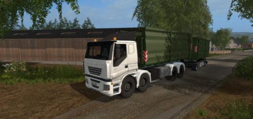 Мод грузовик Iveco Stralis 8x8 agricultural v 1.0 Farming Simulator 17