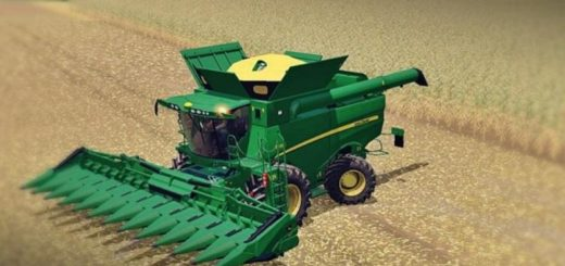 Мод комбайн JOHN DEERE S690I v2.0 Farming Simulator 17
