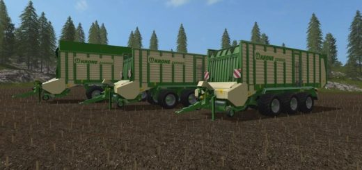 Мод прицеп Krone ZX550GD V 1.1.2.1 Farming Simulator 2017