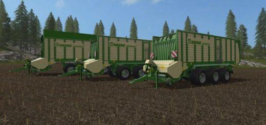 Мод прицеп Krone ZX550GD V 1.1 Farming Simulator 2017