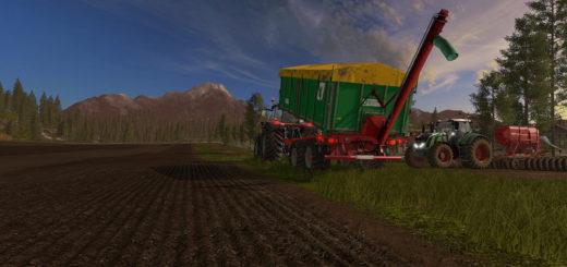 Мод прицеп Kroger TKD302 Overload v 1.0.1 pl 1 Farming Simulator 17