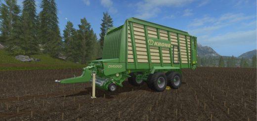 Мод прицеп Krone ZX450GD v 1.1.1.1 Farming Simulator 17