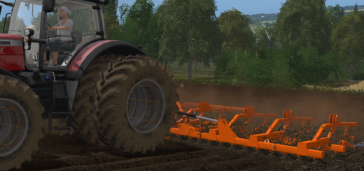 Мод культиватор Laumetris LLK-10 Soil leveler v 1.0 Farming Simulator 2017