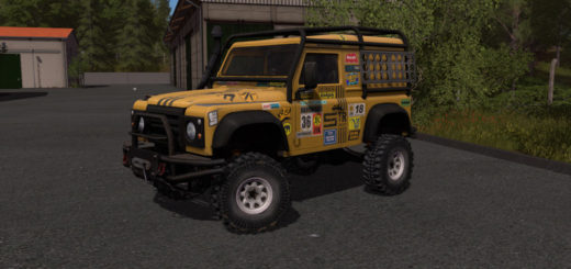 Мод авто Land Rover Defender Dakar v 1.0.0.0 Farming Simulator 2017