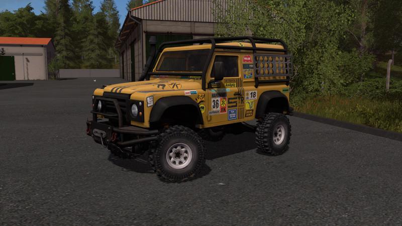 Мод авто Land Rover Defender Dakar v 1.0.0.0 Farming Simulator 2017