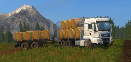 Мод MAN Baletransport v 1.0 Farming Simulator 2017