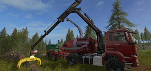 Мод MAN TGS 18.480 Jenz HEM583 V 1.3 Farming Simulator 2017
