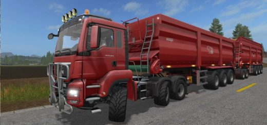 Мод грузовик MAN TGS 18400-26640 V 1.1.0.0 Farming Simulator 2017