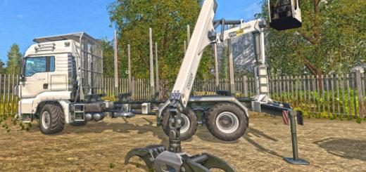 Мод MAN TGS 33.480 FORESTRY TRUCK & TRAILER V 0.9 Farming Simulator 17