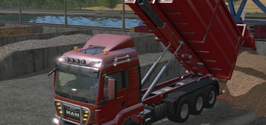Мод грузовик MAN TGS HKL v MAN solo Farming Simulator 17