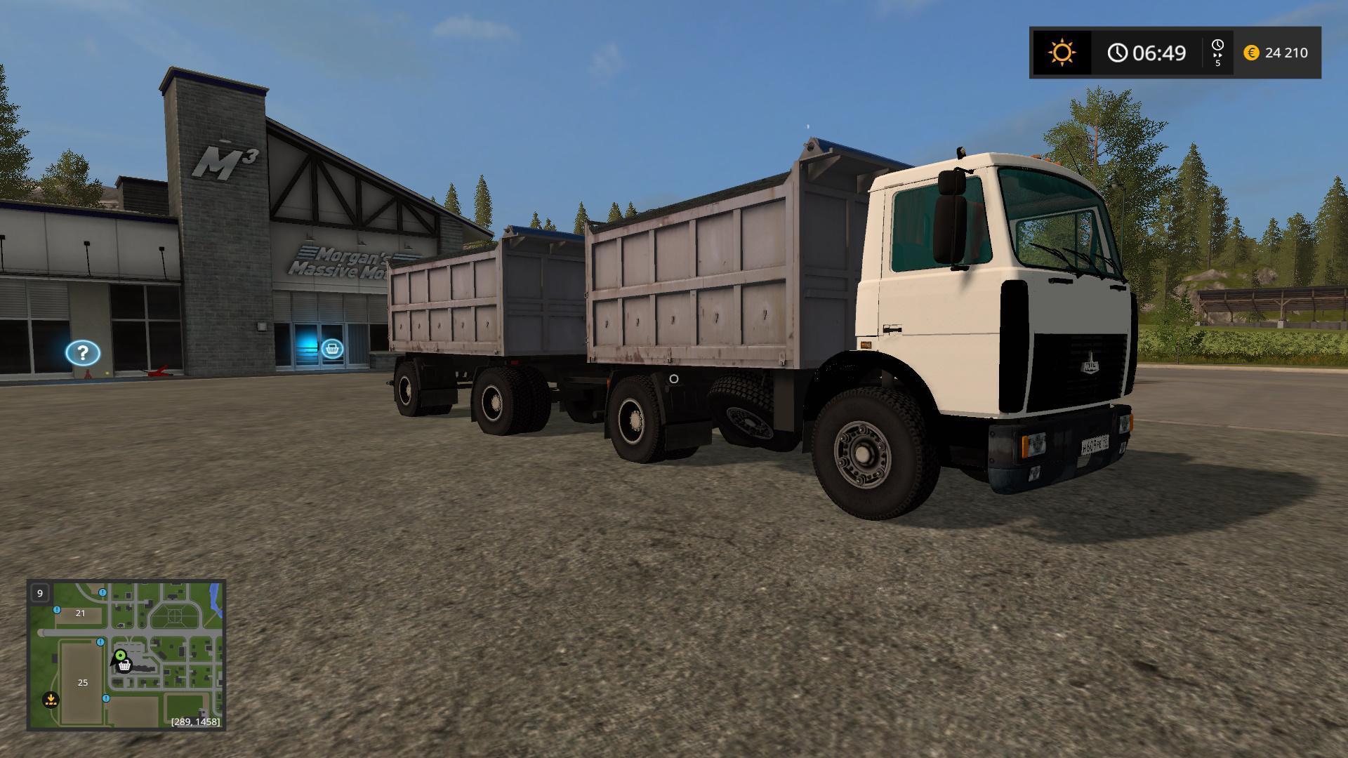 Мод грузовик МАЗ MAZ 5551 Фермер Симулятор 2017