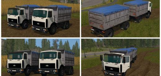 Мод грузовик МАЗ MAZ 5551 & Trailer v 3.1 Фермер Симулятор 2017