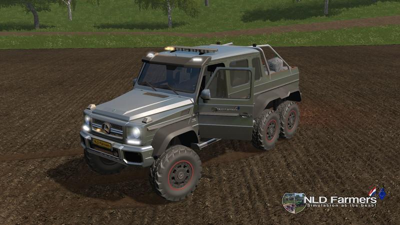 Мод авто Mercedes Benz G65 AMG 6x6 v 1.1.0.0 Farming Simulator 17