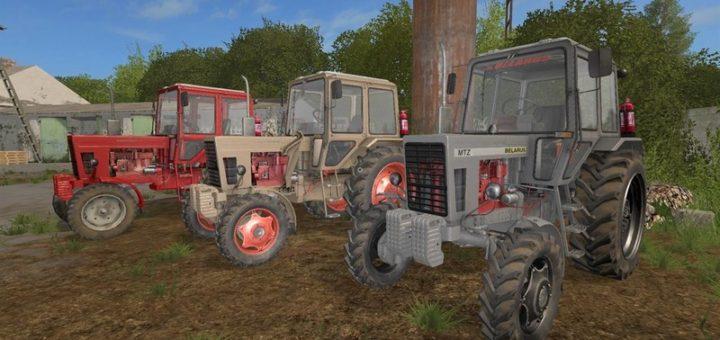 Мод трактор МТЗ MTZ 80 & 82 Pack V 1.1 Фермер Симулятор 2017