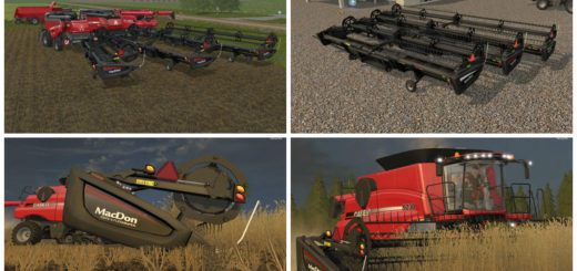 Мод жатки MacDon FD75 V 1 Farming Simulator 2017