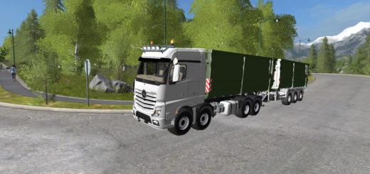 Мод грузовик Mercedes Benz Mp4 Actros It Runner v1.3 Farming Simulator 17