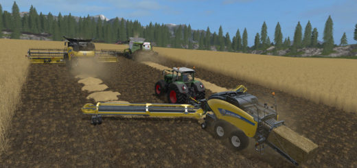 Мод тюкопресс New Holland BB1290 + Nadal R90 Telescopic v 1.0 Farning Simulator 17