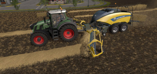 Мод тюкопресс NH BB1290 + Nadal R90 V 1.0 Farming Simulator 17