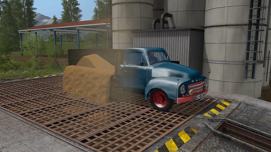 Мод грузовик Opel Blitz Flatbed 1956 v1.0 Farming Simulator 2017