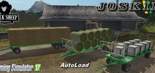 Мод Pack Joskin Wago BaleTrailer Autoload v 1.0.4 Farming Simulator 17