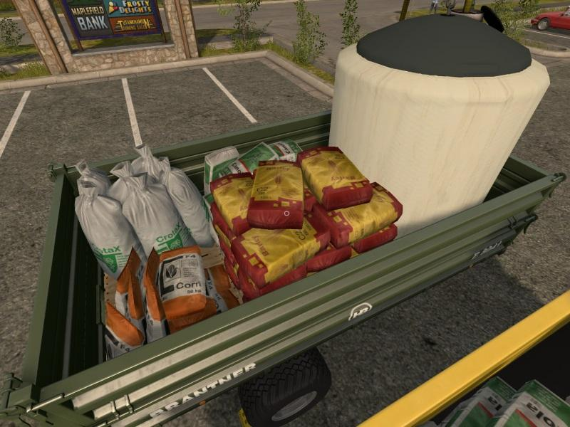 Мод прицеп Seed & Fertiliser Refill Trailer v1.0 Farming Simulator 17