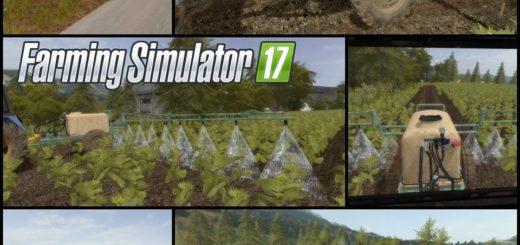 Мод опрыскиватель SPRAYER SLEZA 1000 Farming Simulator 17