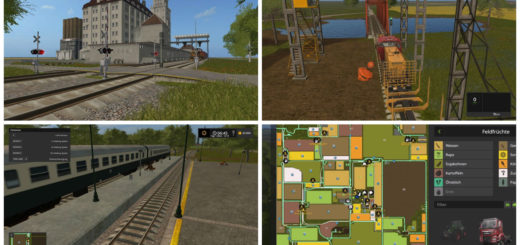 Мод карта Saxony v 1.2 Farming Simulator 17