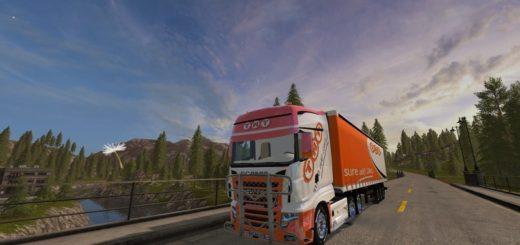 Мод грузовик Scania R 700 TNT v 1.0 Farming Simulator 2017