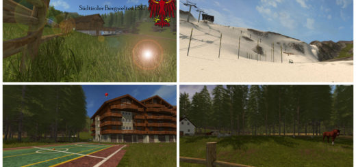 Мод карта South Tyrolean mountain scenery V 3.2 Farming Simulator 2017
