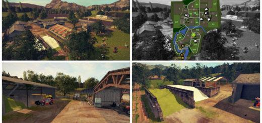 Мод карта Old Stream Farm V2 Farming Simulator 2017