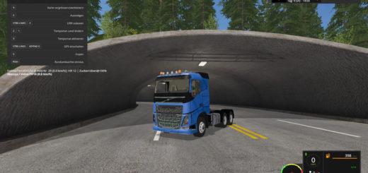 Мод тягач Volvo FH16 6x4 v 1.0 Farming Simulator 17