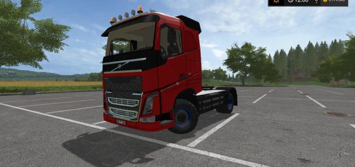 Мод тягач Volvo FH4 540 Agrar v1.2 Farming Simulator 17