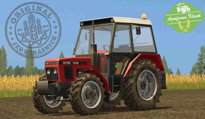 Мод трактор Zetor 7245 Final v 2.0 Farming Simulator 17