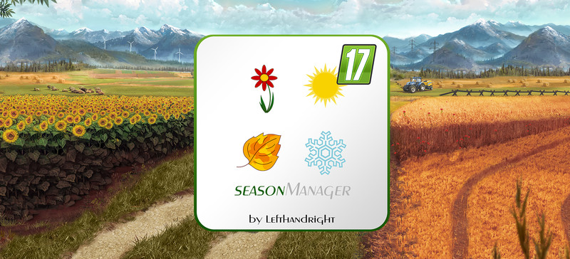 Мод скрипт SeasonManager V0.6 Farming Simulator 17