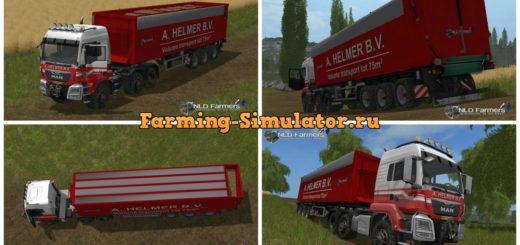 Мод грузовик MAN A Helmer B.V. 75m3 v 2.3 Farming Simulator 17