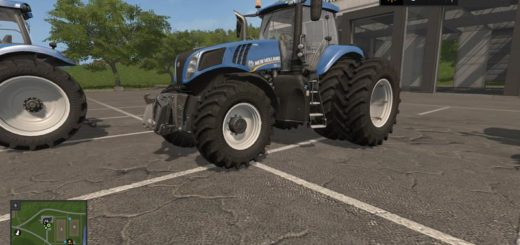 Мод трактор New Holland T8 Tuning 1.1 Hotfix Farming Simulator 2017