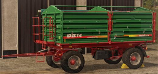 Мод прицеп Metaltech DB 14 v 1.0 Farming Simulator 2017