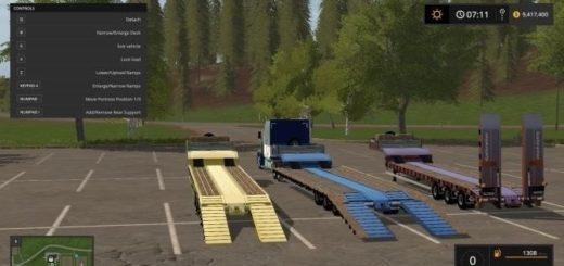 Мод трал Gal Low Loader Farming Simulator 2017