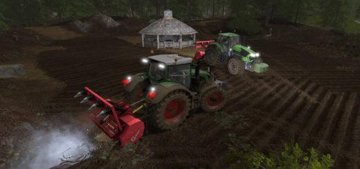 Мод измельчитель пней Ahwi FM700 V 4.0 Farming Simulator 2017