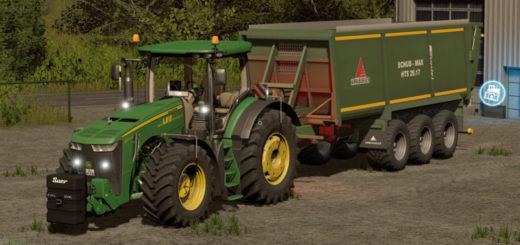 Мод прицеп Anna Burger Schubmax Green v 1.1 Grün Farming Simulator 2017